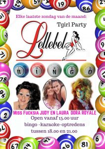 Travestie T girl party in de Lellebel te Amsterdam.