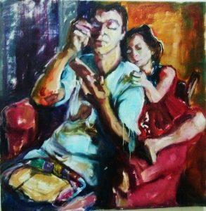 'Unconditional love' schilderij van Gemma van Gennip