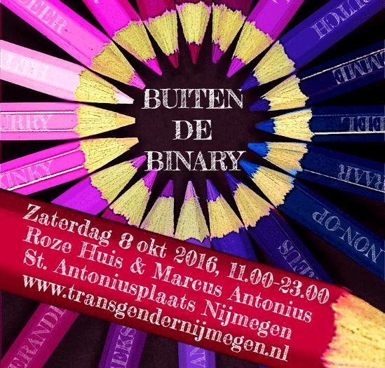 Transgendergroep Nijmegen organiseert 'Buiten de Binary' symposium