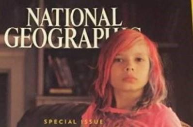 Avery Jackson op de cover van National Geographic