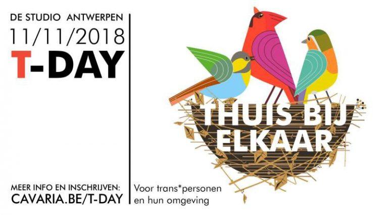 T-day 2018 op zondag 11 november in het teken van 'thuis bij elkaar'